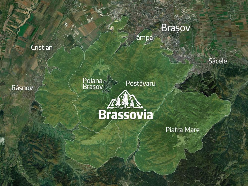 Parcul Natural Brassovia Geoparc UNESCO contur