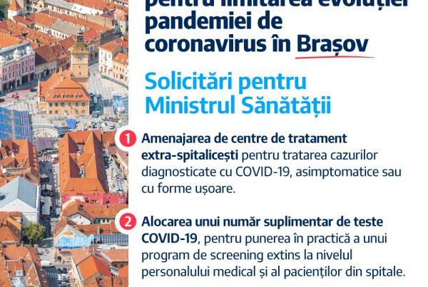 Allen Coliban Scrisoare Ministrul Sanatatii COVID-19 Brasov
